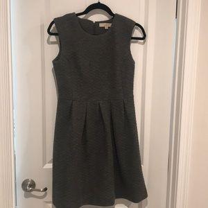 Loft grey textured a line dress. 2